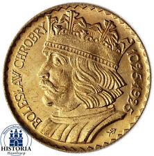 Polen 10 Zloty Gold 1925 bfr Goldmünze König Bolesław I. - 900 Jahre Königreich