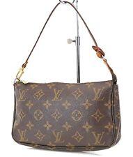 Authentic LOUIS VUITTON Accessory Pochette Monogram Handbag #21958