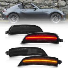Smoke Lens LED Side Marker Light for 2016-up Mazda MX-5 Miata ND Amber/Red 4Pcs
