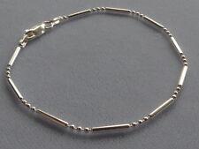 "Round Beads-Italy 925 Italian Sterling Silver- 8""-Bracelet-Bar+3"