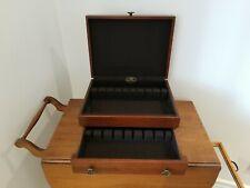 Vintage Reed & Barton Silverware Flatware Storage Chest Wood Case/Box w Drawer