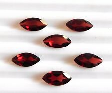 11.00 Cts 06 Pcs Natural Garnet Marquise Cut Lot Loose Gemstone 6X12 MM B-121