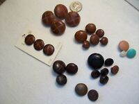 Vintage Genuine Leather Woven sewing buttons brown, black, misc