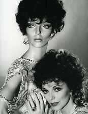 """JOAN COLLINS - Large 15 x 10"""" Photo with ADEL ROOTSTEIN German Mannequin '79 C35"""