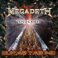 Megadeth Digital Guitar & Bass Tab ENDGAME Lessons on Disc Marty Friedman