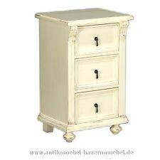 Pfeilerkommode,Kommode,Nachttisch,Nachtkonsole,Massivholz,Landhausstil-möbl,weiß