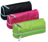 DOME Pencil Case   Barrel Shaped Double Zip Girls Double Twin 2 Pocket   301862