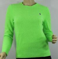 Polo Ralph Lauren Cashmere Wool Womens Sweater Medium Lime Green