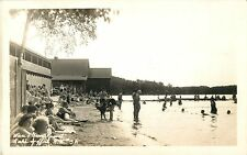 A View Of The Bathers At Ware's Grove Resort, Lake Spofford NH RPPC
