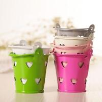 Mini Metal Candy Colored Hollow Heart shaped Party Wedding Candy Box Bucket-ast