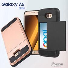 Slide Card Slot Armor Heavy Duty Case Cover for Samsung Galaxy A5 2017
