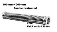 KF16 Flange Vacuum Bellows SS304 Flexible Hose 100-4000mm KF16/KF25/KF40/KF50