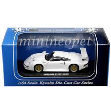 Kyosho K06522W Beads Collection Porsche 911 Gt1 1996 1/64 Diecast White