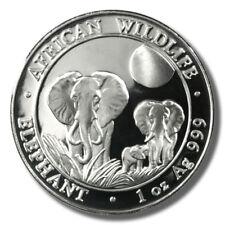 2014 Somalia Elephant 100 Shilling 1oz Prooflike Silver Coin