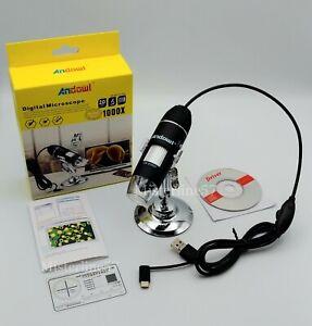 Microscopio Digitale 1000X LED USB Portatile Utilizzabile su PC E SMARTPHONE