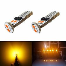 JDM ASTAR 2x T10 Amber 3030 SMD LED Interior Lights Bulbs 194 168 2825 W5W 175