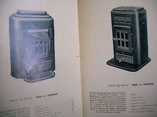 catalogue ancien 1939 poeles bois cheminée cuisinière réchauds SOUGLAND