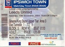 Ticket - Ipswich Town v Leeds United 13.11.04