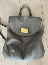 MARC JACOBS Gray Leather Backpack - Medium Size - Used in Great Condition