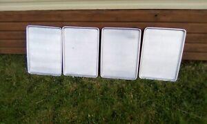 Four heavyweight aluminium baking kitchen trays