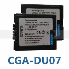 2X PK Battery for CGR-DU06 CGR-DU07 CGA-DU07 PANASONIC PV-GS19 PVGS19 Camcorder