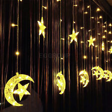 96-300 LED Icicle Hanging Window Curtain Snowing Fairy String Lights Xmas Party