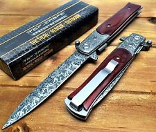 TAC-FORCE POCKET KNIFE SPRING ASSISTED MILANO GOD FATHER EDITION PAKKAWOOD DMW