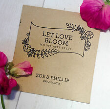 10x Personalised 'Frame' Wedding Favour Envelopes with Wildflower Seeds