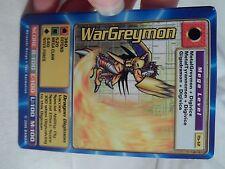 BANDAI TACO BELL DIGIMON TRADING CARD WARGREYMON