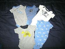 Lot of 5 Carter's Boy's 3 Mos 1-Pc Bodysuits short sleeve