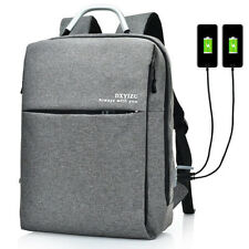 Mens Backpack with Dual Usb Charing Port 15.6 Inch Multi Pocket Solid Laptop Bag