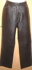 FIORELLI BLACK LEATHER TROUSERS LINED  SIZE 12  NEW