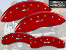 """2003-2009 Hummer H2 Front + Rear Red Engraved """"MGP"""" Brake Disc Caliper Covers"""