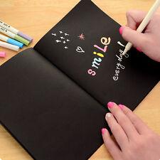 Kreativ Tagebücher Zeichenblock Skizzenbuch aus Schwarz Papier Kinder Favorit