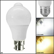 7W PIR Motion Sensor LED Light Bulb Infrared Energy Saving Auto B22 E27 Detector