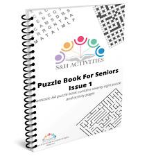 Puzzle Book For Seniors,Dementia/Alzheimer's /Elderly Activity Product
