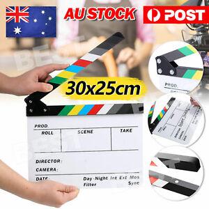 New Clapperboard Clapper Board TV Film Movie Slate Colorful Clapboard AU Seller