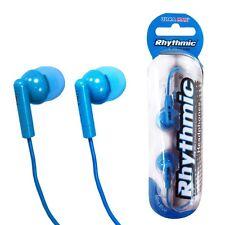 RHYTHMIC BLUE EARPHONES MP3 PLAYER IPOD 3.5MM JACK ULTRA MAX