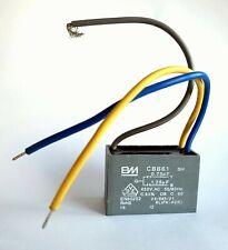CBB61 motor fan start capacitor 3wire BM,0.75uF+1.25uF 450V NO MOUNT TAB rf:z979