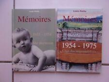 lot Louis PETITE Mémoires tome 1 ( 1933-1954) + tome 2 (1954-1975) tbe