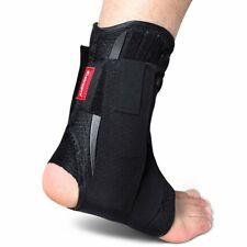 Kuangmi Ankle Brace Lace Up With Side Stabilizers and Cross Auxiliary Fixing 1
