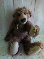 OOAK Large Artist Mohair Full Jointed Teddy Bear 14""