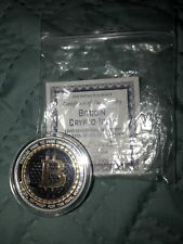 1 oz. BitCoin Crypto Icon Numbered Colorized rounds .999 fine silver