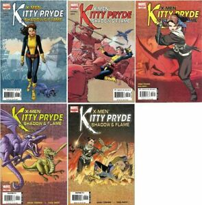 X-Men: Kitty Pryde - Shadow and Flame #s 1-5 complete series Marvel (2005) VF/NM