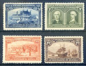 Canada 1908 Quebec 5c, 76c, 15c & 20c hinged mint (2019-09-18#12)