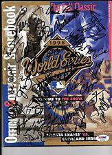 1995 World Series Program Autograph by 30 Atlanta Braves Players Glavin, Maddux