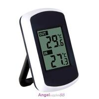Digital Wireless Thermometer Clock Weather Home Indoor Outdoor Temperature Test