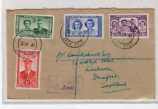 BECHUANALAND: 1947 REGISTERED ROYAL VISIT COVER TO SCOTLAND (C20192)