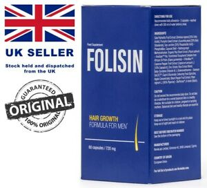 Folisin – HAIR GROWTH FORMULA FOR M, NATULAR COLOR RETENTION, 60 CAPSULES/720 mg