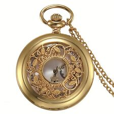"""31.5"""" Chain Necklace Father's Day Gift Luxury Gold Tone Men's Pocket Watch w"""